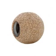 Yellow Gold Filled Kera Stardust Finish Smart Bead Ring Size 6