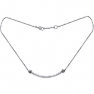 Sterling Silver 16.00 Inch Kera Designer Necklace