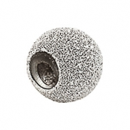 Sterling Silver Kera Stardust Finish Smart Bead Ring Size 6