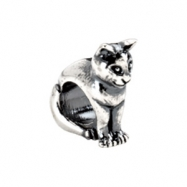 Sterling Silver Kera Cat Bead Ring Size 6