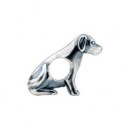 Sterling Silver Kera Dog Bead Ring Size 6