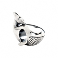 Sterling Silver Kera Whale Bead Ring Size 6