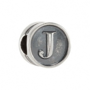 Sterling Silver J Kera Alphabet Cylinder Bead Ring Size 6