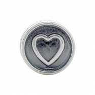 Sterling Silver Kera Heart Cylinder Bead Ring Size 6