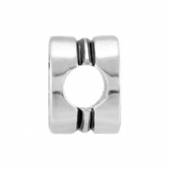 """Sterling Silver Kera """"""""cross"""""""" Cylinder Bead Ring Size 6"""