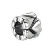Sterling Silver Kera Heart Accented Bead