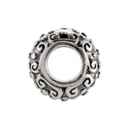 Sterling Silver Kera Decorative Bead Ring Size 6