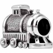 Sterling Silver Kera Train Bead Ring Size 6