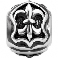 Sterling Silver Triangular Bead Kera Trianular Fleur De Lis Be