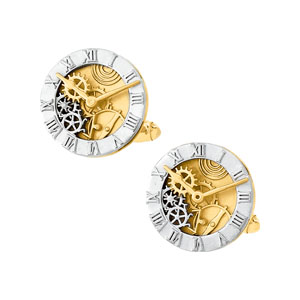 14K White Yellow Gold Two Tone Cuff Link. Price: $2209.77