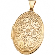 14K Yellow 31.75X22.75 MM Oval Shaped Locket