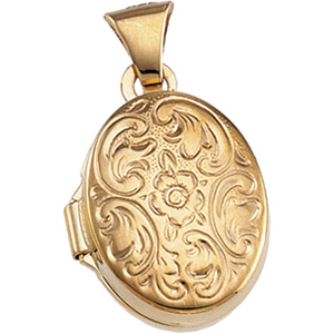 14K Yellow 13.25X11.00 MM Oval Shaped Locket. Price: $178.15