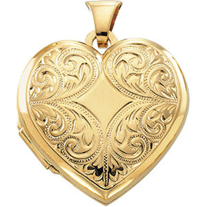 14K Yellow 20.75X21.00 MM Heart Shaped Locket. Price: $342.85
