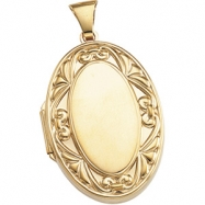 14K Yellow 32.00X22.00 MM Large Oval Locket