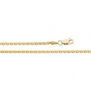 14K Yellow 16.00 INCH WHEAT CHAIN Wheat Chain