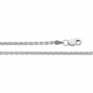 Sterling Silver 16.00 INCH WHEAT CHAIN Wheat Chain