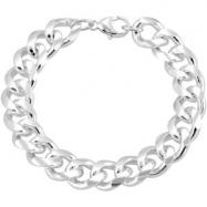 Sterling Silver 09.00 INCH CURB CHAIN Curb Chain