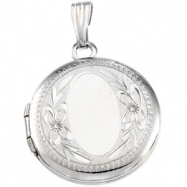 Sterling Silver Round Shaped Locket