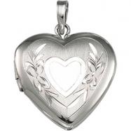 Sterling Silver Heart Shaped Locket