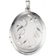 Sterling Silver Oval Shaped Locket