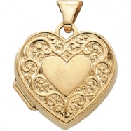 14K Yellow 15.00X15.50 MM Heart Shaped Locket