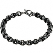 Sterling 20.00 Inch Silver Black Ruthenium Plated Link Chain