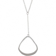 Sterling Silver Link Necklace With Fashion Dangle