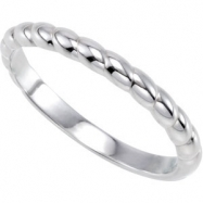 Sterling Silver Stackable Metal Fashion Ring
