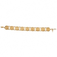 10K Yellow Gold 71 2 Inch Traditional Saints Bracelet