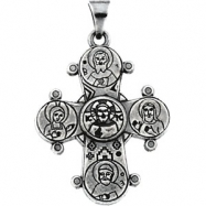 Sterling Silver With Chain And Box Dagmar Cross Pendant