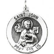 14K Yellow Gold St. John The Evangelist Medal