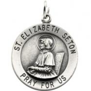 14K Yellow Gold St.elizabeth Seton Medal