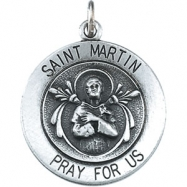 14K Yellow 18.00 MM St. Martin De Porres Medal