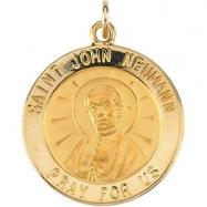 14K Yellow Gold St. John Neumann Medal