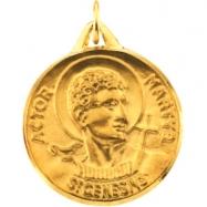 14K Yellow Gold St.genesius Medal