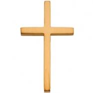 14K Yellow Gold 25.75x15.75 Cross Pendant