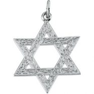 Sterling Silver 29.0x26.0 Star Of David Pendant