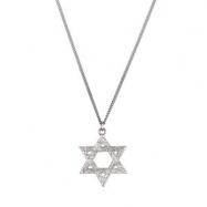 Sterling Silver 25.25x22.75 Star Of David Pendant