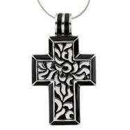 Sterling Streling Silver Cross Of Faith With Ster Chain