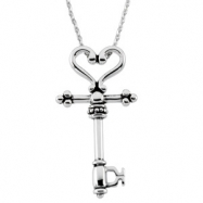 Sterling Streling Silver The Covenant Key (mother Mentor) With Ster Chain