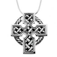 Sterling Streling Silver Celtic Cross With Ster Chain