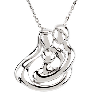Sterling Silver Child Family Embrace Necklace With Packaging. Price: $64.89