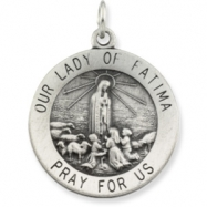 14K Yellow 25.00 MM Our Lady Of Fatima Medal