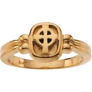 14K Yellow Gold Celtic Cross Ring