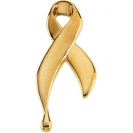 14K Yellow Gold Lapel Pin Ribbon Of Tears
