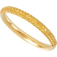 14K Gold Yellow Sapphire Anniversary Band