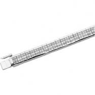 14K White Gold 8 Diamond Bracelet