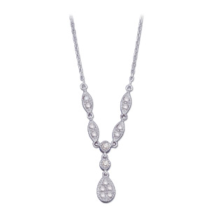 14K White Gold Diamond Necklace. Price: $1033.35