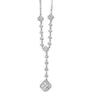 14K White Gold Diamond Necklace. Price: $1519.68