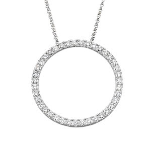 14K White Gold Diamond Necklace. Price: $2440.22